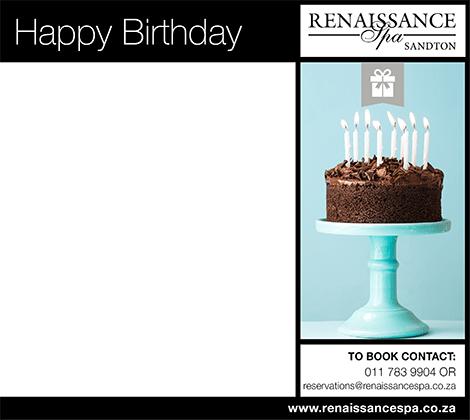 happy birthday gift voucher r250 renaissance spa sandton