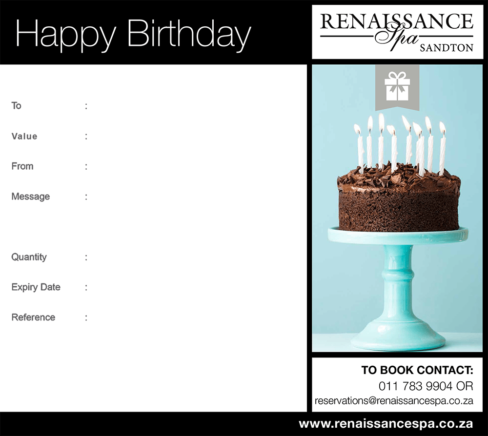 Happy Birthday Gift Voucher